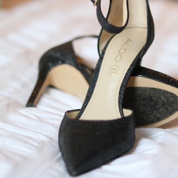 Aldo Shoes - Aldo Black Glitter Pumps