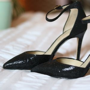 Aldo Black Glitter Pumps