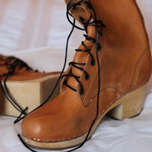 Swedish Hasbeens Shoes - Tan Leather Swedish Hasbeen Boots