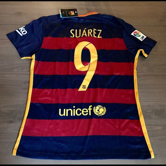 2840db46a31 Suarez  9 15 16 Barcelona home Jersey liga men