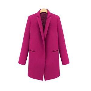 Fuchsia Classic Long Coat