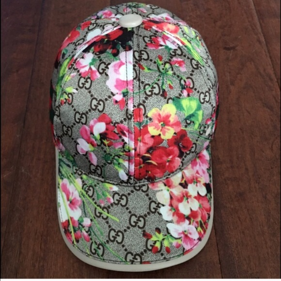 Ladies GUCCI pink floral baseball hat 01785cda538
