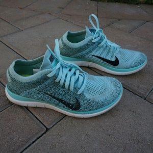 Nike Free 4.0 Flyknit Teal/Blue