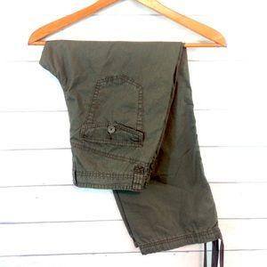 Calvin Klein Jeans Pants - Calvin Klein Jeans Olive Green Capri Pant NWT Sz 4