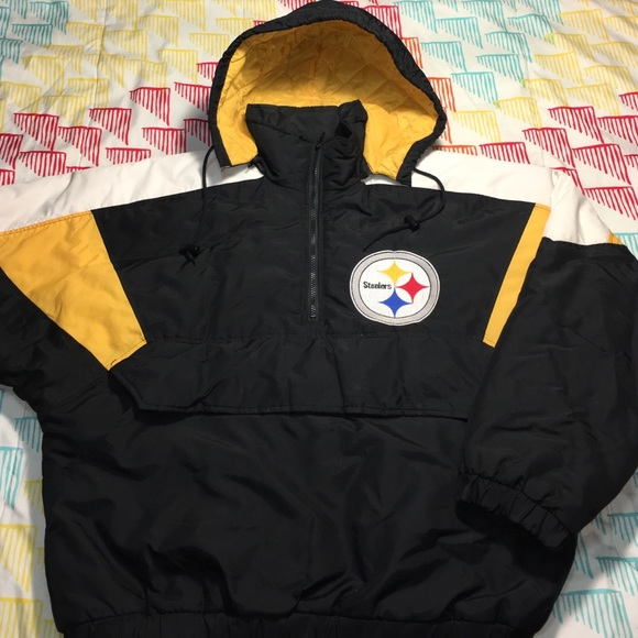 Logo Athletic - Pittsburgh Steelers Pullover Puffer Winter Jacket ...