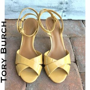 Tory Burch Shoes - Tory Burch Tania Nude Patent leather ankle strap