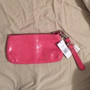 Tignanello Handbags - Tignanello hot pink clutch NWT