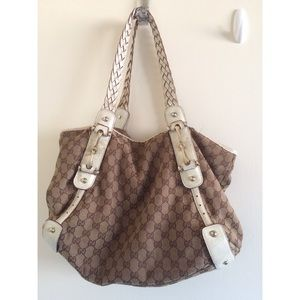 Gucci Handbags - Gucci logo monogram leather Pelham braided hobobag