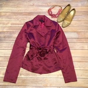 Express purple trench