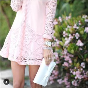 Chicwish Pink Lace Dress