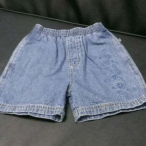 Le Top Other - Kids Denim Shorts with Monkeys