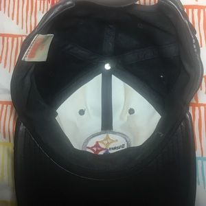 68d086a5b NFL Accessories - Pittsburgh Steelers Football Leather StrapBack Hat