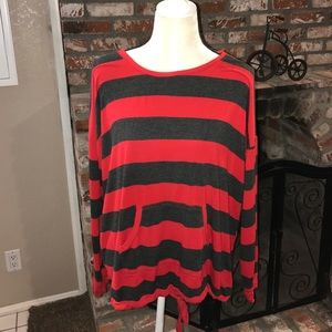 kenzie Tops - Stripped long sleeve pullover