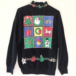 Vtg ugly Christmas sweater Sz large