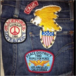 People for Peace Jeans - 💞HP💞 People for Peace Vintage PatchWork Jeans