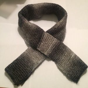 Accessories - Gray, black and white ombré scarf