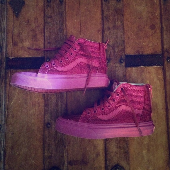 Vans Shoes | Vans Girls Sparkly Pink