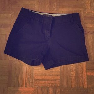 Jcrew navy chino shorts