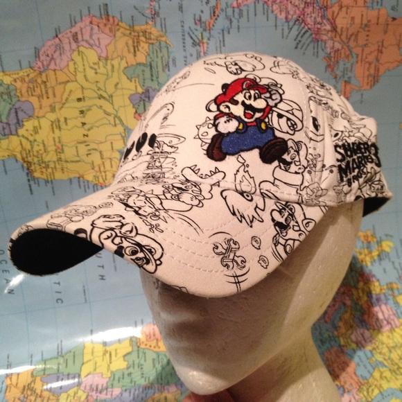 7468e97b351 Super Mario Bros 3 one size hat Mario mushrooms. M 5840c4582599fe0be5041d1f