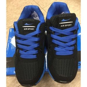 Blue and Black Sneakers