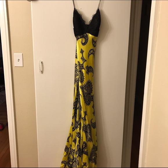 Dresses Black And Yellow Prom Dress Poshmark