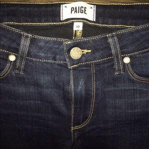 Paige jeans size 30 vertigo ankle