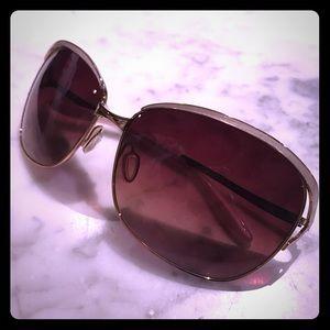 Barton Perreira Accessories - BARTON PERREIRA- gold metal rim square sunglasses
