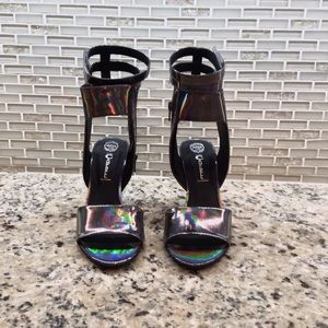 Jeffrey Campbell Shoes - JEFFREY CAMPBELL SKYBOX HEELS!! - pewter hologram