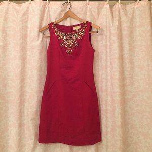 Anthro holiday embellished dress