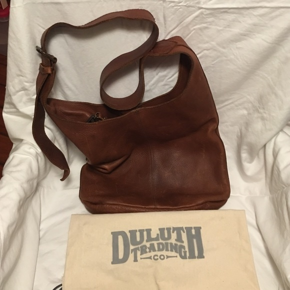08d8883393b09d Duluth Trading Co Handbags - Duluth Lifetime Leather Crossbody Bag