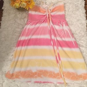 Miken Other - Pink, orange and white swimsuit cover up