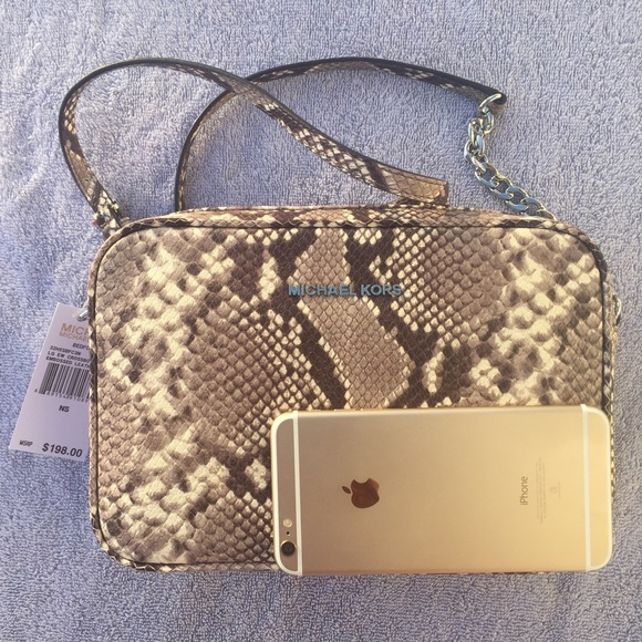 e8763463093af4 Michael Kors Bags | New Snake Embossed Leather Crossbody | Poshmark