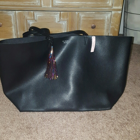 Victoria S Secret Bags Nwt Victorias Secret Black Tote Bag Poshmark