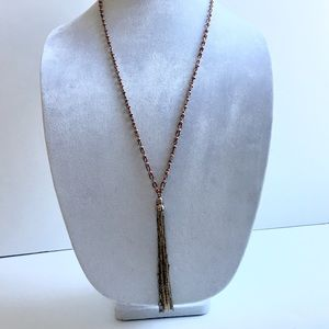 Evereve Jewelry - Mixed Metal Tassel Necklace