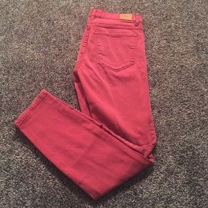 BDG Red High-Rise Cigarette Ankle Jeans