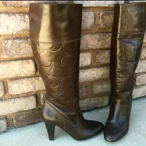 Authentic Leather Coach Boots