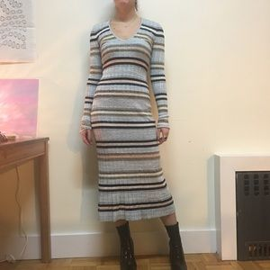 FINAL FLASH // Free people knit striped midi dress
