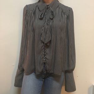 FINAL FLASH// Free people striped button up blouse