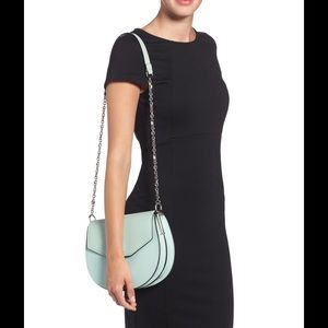 Louise et Cie 'Jael' Leather Shoulder Bag mint
