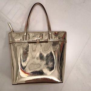 Kate Spade Gold metallic tote bag