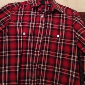 Rockies shirt, size small, plaid with button down