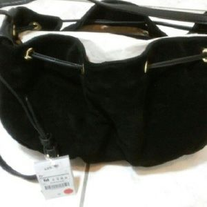 Zara Suede and Leather Shoulder bag