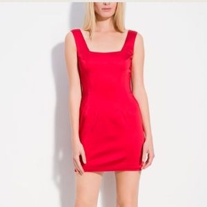 Jay Godfrey Red Satin Sheath Dress size 6 NWT