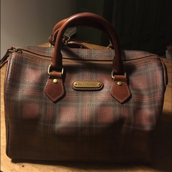 464917674f69 Vintage Polo Ralph Lauren Plaid Speedy Satchel. M 5840eea4680278389404cf04.  Other Bags ...