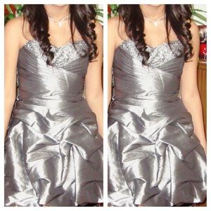 Dresses & Skirts - 🌺Strapless silver short dress