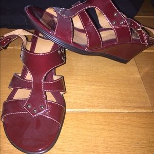 Sofft Shoes - Red sofft wedges women's 4.5 or kids 2.5
