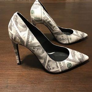 Jeffrey Campbell dulce pump money print RARE