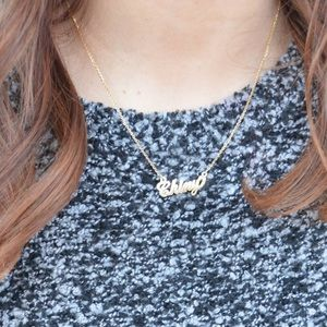 """Jewelry - Personalized 17"""" inches 14k Gold Name Necklace ✨💛"""