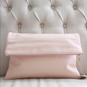 new blush pink clutch