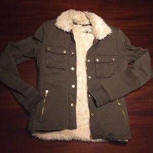 TWISTED HEART Jackets & Blazers - Twisted Heart green fur coat